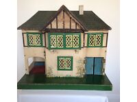 Vintage 1930s Dolls House - believed to be made by Triang