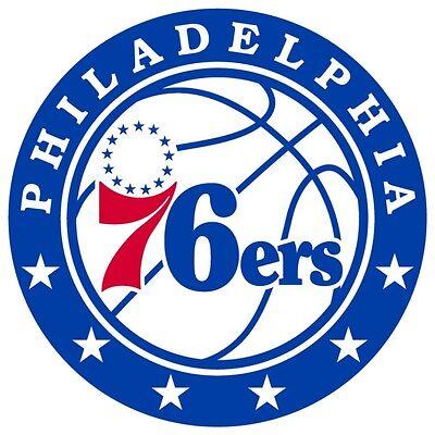 Philadelphia 76ers Logo Wall - Philadelphia 76ers #3 NBA Team Logo Vinyl Decal Sticker Car Window Wall Cornhole