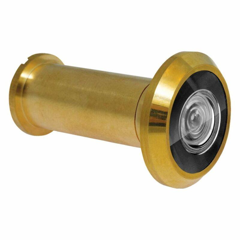 180 Degree Peephole Door Viewer Security Peep Hole Hardware, Polished Brass