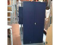 Dark blue metal filing cupboard