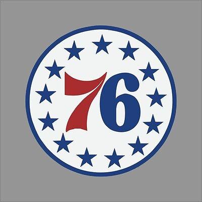 Philadelphia 76ers Logo Wall - Philadelphia 76ers #5 NBA Team Logo Vinyl Decal Sticker Car Window Wall Cornhole