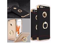 Iphone 7 plus Black ring holder case buy one get one free !!!!!!!
