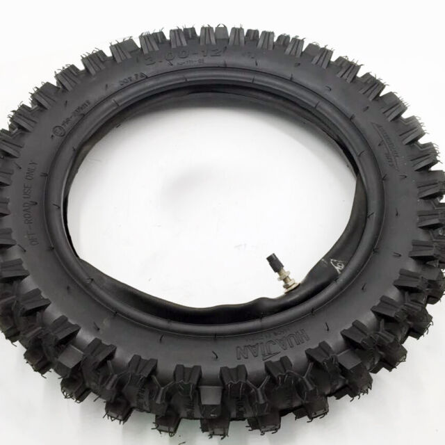 "12 inch Knobby Tyre & Tube Rear 12"" 80/100-12 Tire Dirt Bike Pit Bike CRF"