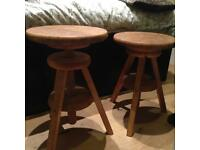 Wooden stools --adjustable height