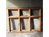 Solid wood window frame