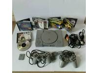 Sony PS1 phat Console lot Full Set up 2 contrls games A1