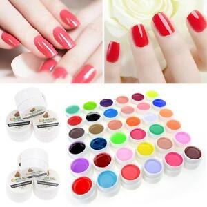 36 Farbe Nail Art nagellack set Nagelgel UV Gel Farbgel Effekt-Gele Fingernägel