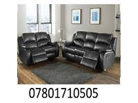 sofa lazy boy recliner sofa black real leather BRAND NEW 71