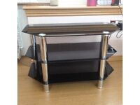Black Glass 3 Tier TV Stand excellent condition