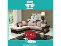 🌄Cool New😚2 Seater £229 3 Str £249 3+2 £399 Corner Sofa £399-Brand Faux PU Leather Jumbo Cord🔵