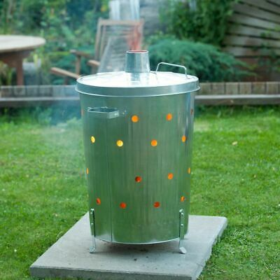 Nature Garden Incinerator Galvanised Steel 46x72 cm Rubbish Burner 6070464