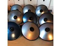 9 vintage industrial lampshades lightshades