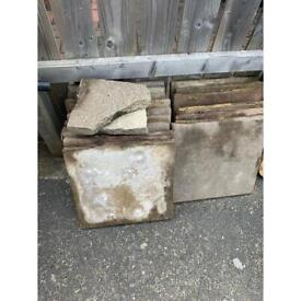 Free 400 x 400 paving slabs