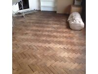 Parquet flooring reclaimed, 220x70x30mm, 1930s oak.