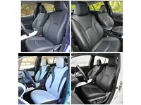 LEATHER CAR SEAT COVERS FOR TOYOTA PRIUS VAUXHALL ZAFIRA SEAT ALHAMBRA PEUGEOT 5008 CITREON C4 GRAND