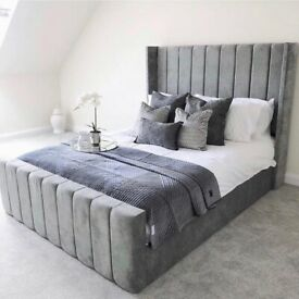 royal wing bed frame with choice of mattress
