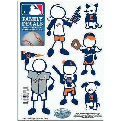 Detroit Tigers Family Decals 6 Pack (NEW) MLB Small Auto Car Stickers Emblems Detroit Tigers Family Decal