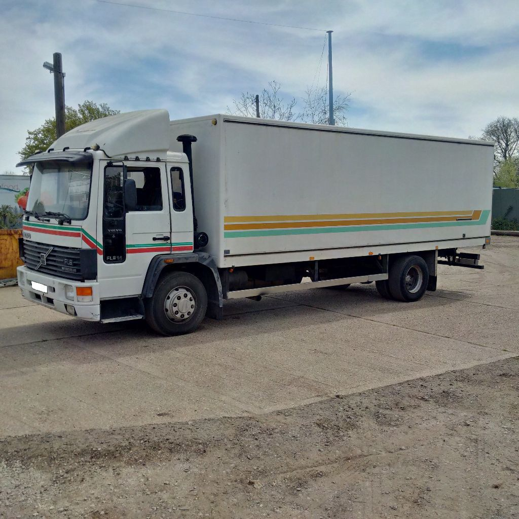 Left hand drive Volvo FL6 Intercooler 14 Ton isothermic box lorry. On  springs suspension.