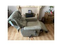Power rise and recline dual motor green