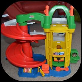Fisher Price Little People Racing Ramps Garage - no cars