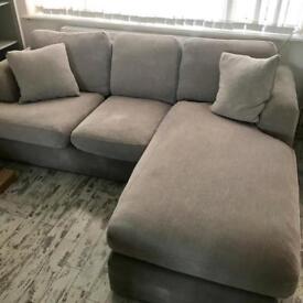 Next Dove Silver Grey Stratus III Corner Sofa Settee