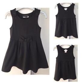 Girls Black Jersey School Pinafore Dress Uniform
