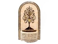 Outdoor Water Fountain, Brown Moroccan Garden Mosaic Fountains, 110 H by 64 cm L