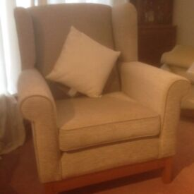 High backed elderly persons armchair