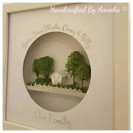 Personalised Papercut Gift - Ideal for Mothers Day