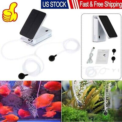 Aquarium Water Pump Solar Powered Pond Fish Tank Submersible Oxygen Aerator