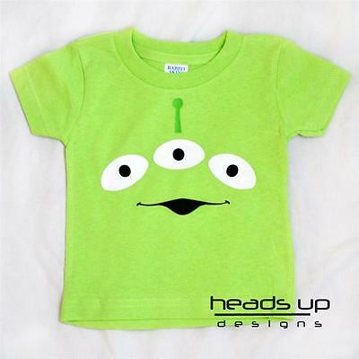 Alien Girl Costume (Toy Story Alien Shirt Boy Girl Baby Newborn Bodysuit Kid Adult)