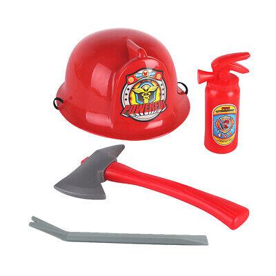 Feuerwehrmann Helm mit 3 Stück verschiedene Werkzeuge Kinder (3 Stück Feuerwehrmann Kostüm)