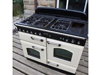 Rangemaster Classic 1100 Dual Fuel Range Cooker approx. 6/7 years old. Needs a good clean up