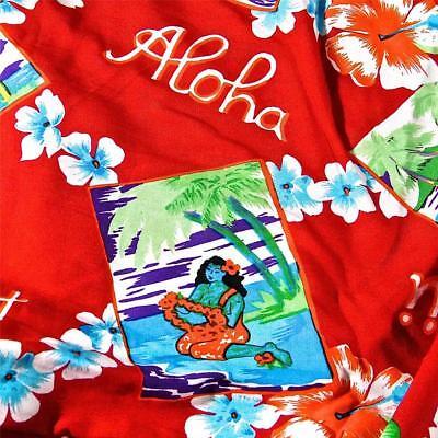 Hawaiian Print Kokio /& Antherium Pua Green Blue Yellow Cotton Fabric by Trendtex