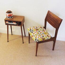 Vintage 1960s teak wood chairs