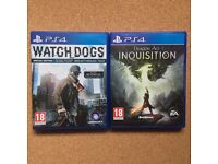 PS4 Games x2 (18) - Dragon Age Inquisition & Watch Dogs