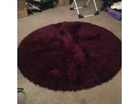 Deep Purple shaggy 6ft circular rug