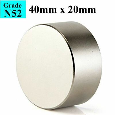 Block N52 Large Neodymium Rare Earth Magnet Big Super Strong Huge 40mm20mm