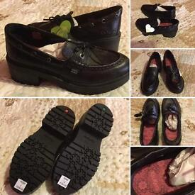 Kickers Hi-Cut Loafers shoes size 7 uk