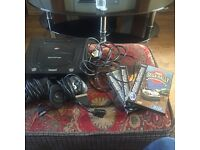 Sega Saturn with 3 games and 2 controllers