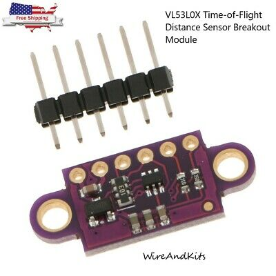 1x Vl53l0x Time-of-flight Distance Sensor Breakout Module For Arduino 2510.7mm
