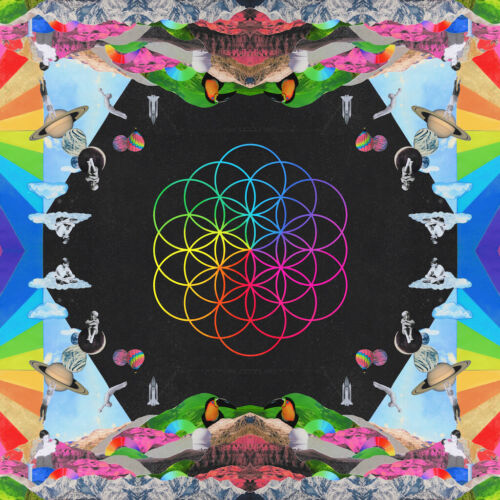 COLDPLAY A Head Full of Dreams BANNER HUGE 4X4 Ft Fabric Poster Tapestry Flag