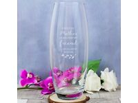 Personalised Mothers day vase - brand new, free delivery within local area