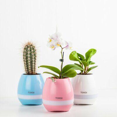 Bulk Flower Pots ((30) K3 Smart Music Flower Pot Light Bluetooth Speaker Bluetooth Piano)