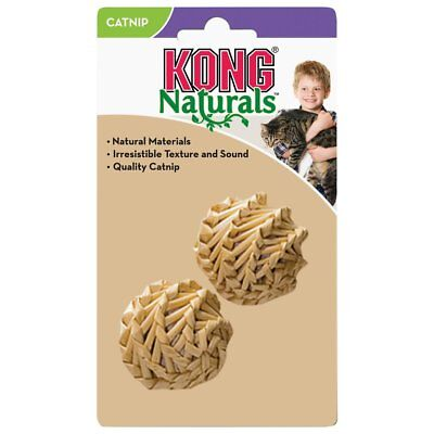 Kong Natural Straw Ball Cat Toy 2pk(Free Shipping In USA)