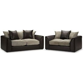 ** 1 YEAR WARRANTY ** BRAND NEW BYRON SOFA SET 3+2 SEATER OR CORNER ON SPECIAL OFFER