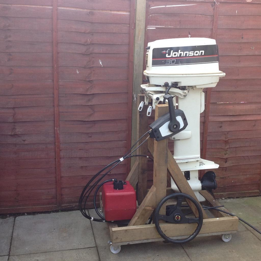 Johnson 30hp Two Stroke Outboard Engine In Johnstone