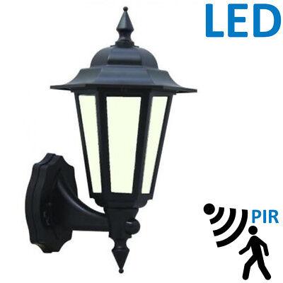 2x External Security PIR Sensor Wall Coach Lantern 7W LED Energy Saving Lights