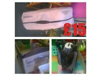 TRAVEL COT £15 AND CHILDRENS SAFETY BED GUARDS £10 EACH