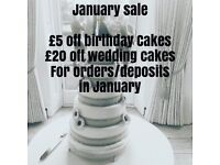 £1 cupcakes, £45 Wedding cakes, Birthday cakes £35